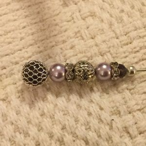 Jewelry - Vintage Style Lavender Purple Hat Pin